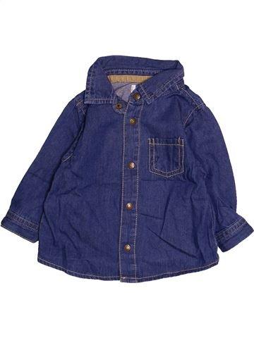 Chemise manches longues garçon KIMBALOO bleu 6 mois hiver #1494174_1