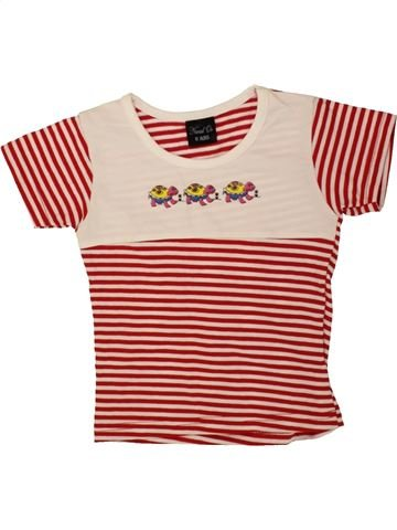 T-shirt manches courtes fille NEVAD'OR rouge 6 ans été #1494175_1