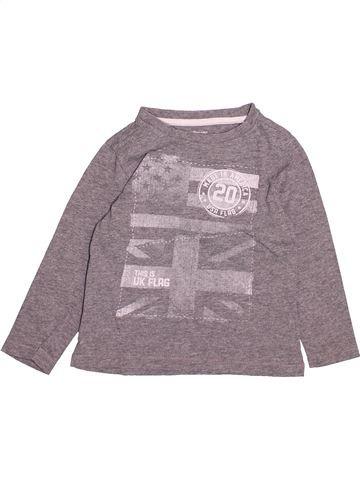 T-shirt manches longues garçon VERTBAUDET gris 3 ans hiver #1494248_1