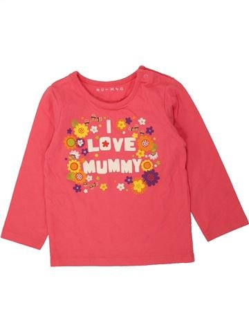 T-shirt manches longues fille NUTMEG rose 18 mois hiver #1494532_1