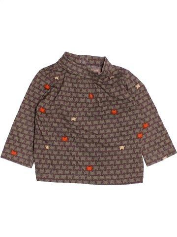 T-shirt manches longues fille DPAM violet 3 mois hiver #1494598_1