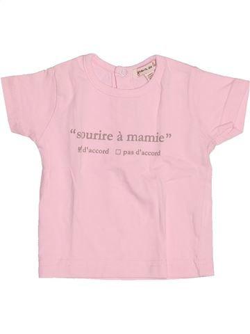 Camiseta de manga corta niña GRAIN DE BLÉ rosa 3 meses verano #1494621_1