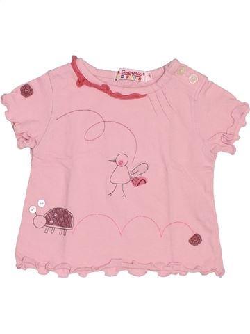Camiseta de manga corta niña LA COMPAGNIE DES PETITS rosa 3 meses verano #1494624_1