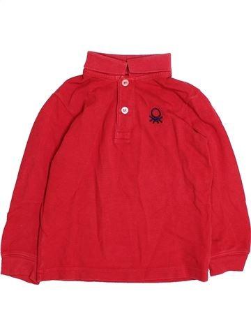 Polo de manga larga niño BENETTON rojo 2 años invierno #1494746_1
