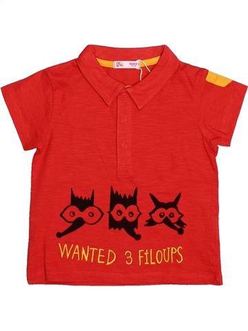 Polo de manga corta niño DPAM rojo 18 meses verano #1494749_1