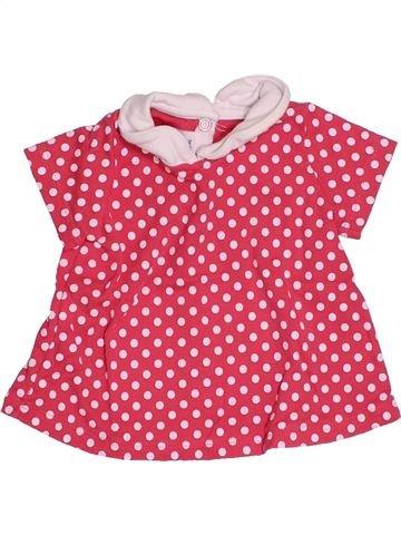 T-shirt manches courtes fille PETIT BATEAU rose 3 mois été #1494799_1