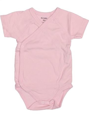 T-shirt manches courtes fille KIABI rose 3 mois été #1494853_1