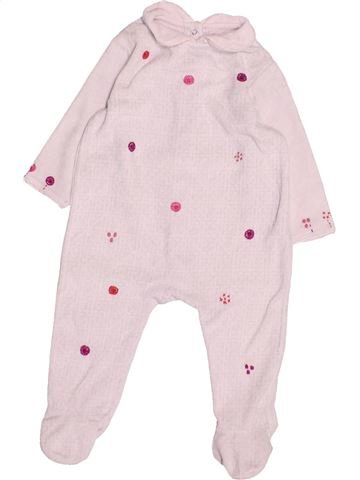 Pyjama 1 pièce fille DPAM blanc 6 mois hiver #1494992_1