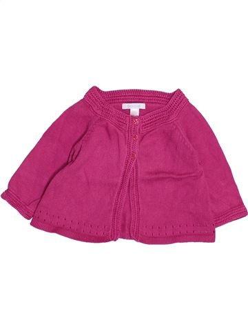 Chaleco niña OKAIDI rosa 6 meses invierno #1495001_1