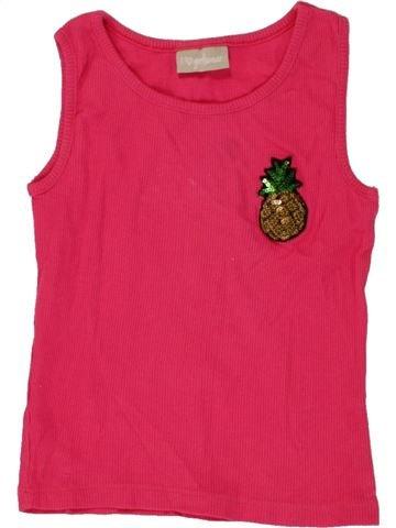 T-shirt sans manches fille I LOVE GIRLSWEAR rose 6 ans été #1495019_1