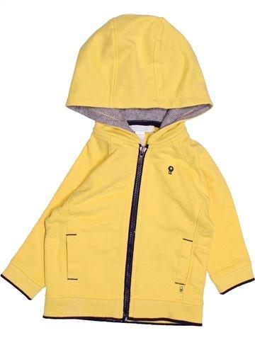 Sweat garçon OKAIDI jaune 6 mois hiver #1495035_1