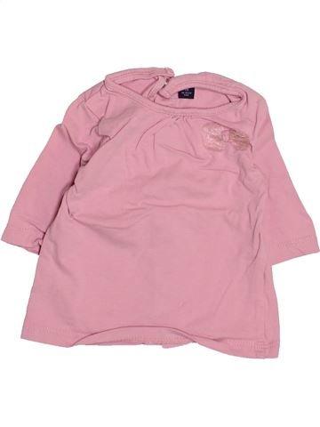 T-shirt manches longues fille KIABI rose 1 mois hiver #1495038_1