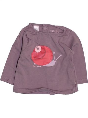 T-shirt manches longues fille OKAIDI marron 1 mois hiver #1495072_1