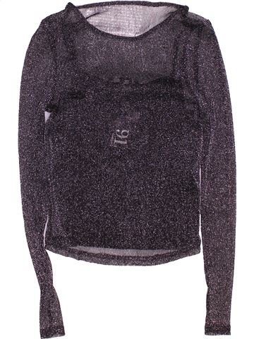 T-shirt manches longues fille NEW LOOK gris 9 ans hiver #1495242_1