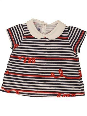 T-shirt manches courtes fille PETIT BATEAU blanc 18 mois été #1495297_1