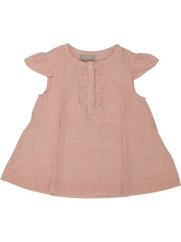 Blusa de manga corta niña CYRILLUS rosa 9 meses verano #1495572_1