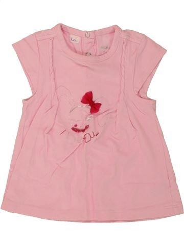 T-shirt manches courtes fille ORCHESTRA rose 9 mois été #1495579_1