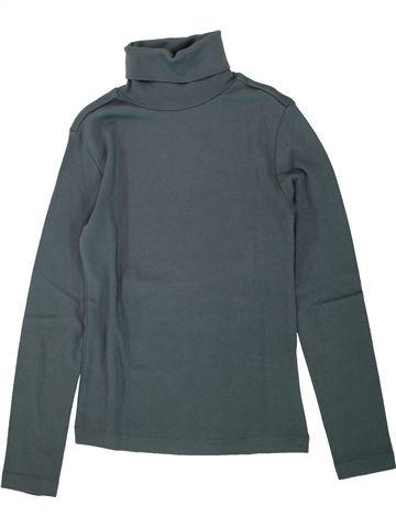 Camiseta de cuello alto niño LA REDOUTE gris 10 años invierno #1495610_1