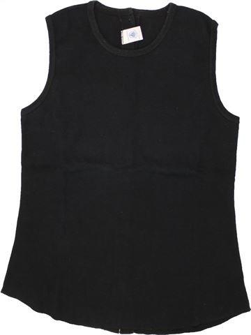 T-shirt sans manches fille PETIT BATEAU noir 16 ans été #1495621_1