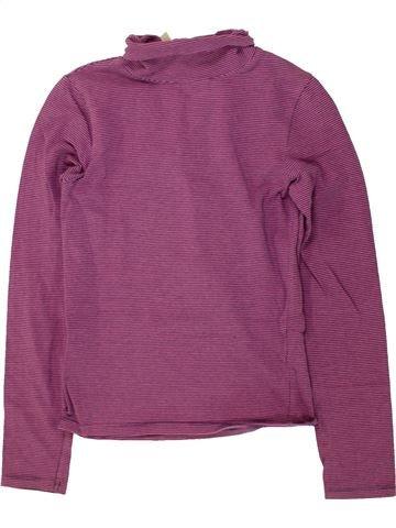 T-shirt col roulé fille OKAIDI violet 10 ans hiver #1495689_1