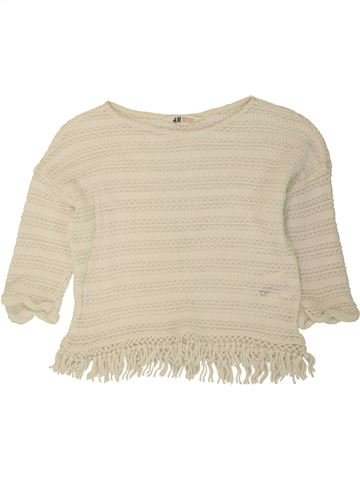 Pull fille H&M beige 10 ans hiver #1495832_1
