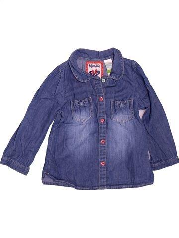 Blusa de manga larga niña C&A azul 2 años invierno #1496022_1
