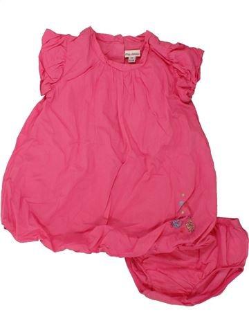 Vestido niña P'TIT BISOU rosa 6 meses verano #1496076_1