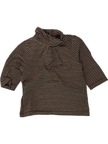 Camiseta de cuello alto niña VERTBAUDET marrón 3 meses invierno #1496081_1