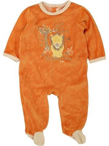 Pijama de 1 pieza niño GEMO naranja 6 meses invierno #1496084_1