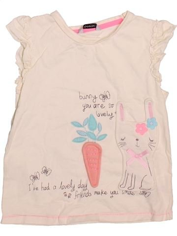 Camiseta sin mangas niña GEORGE beige 6 años verano #1496138_1