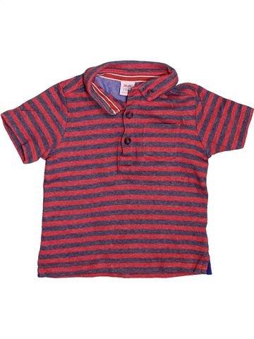 Polo manches courtes garçon MINI CLUB violet 2 ans été #1496156_1