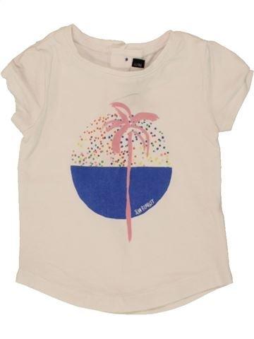 T-shirt manches courtes fille JEAN BOURGET bleu 9 mois été #1496373_1