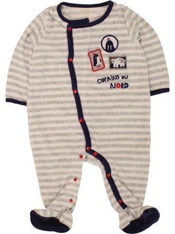 Pijama de 1 pieza niño DPAM blanco 12 meses invierno #1496436_1