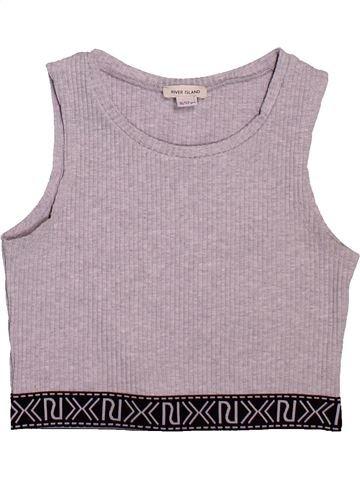 T-shirt sans manches fille RIVER ISLAND gris 12 ans été #1496522_1