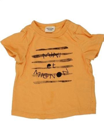 T-shirt manches courtes garçon TAPE À L'OEIL jaune 6 mois été #1496545_1