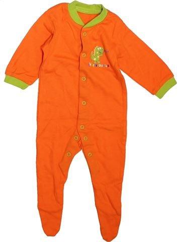 Pyjama 1 pièce garçon F&F orange 3 mois été #1496751_1