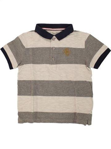 Polo de manga corta niño CYRILLUS gris 6 años verano #1496761_1