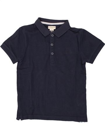 Polo de manga corta niño CYRILLUS azul 6 años verano #1496800_1