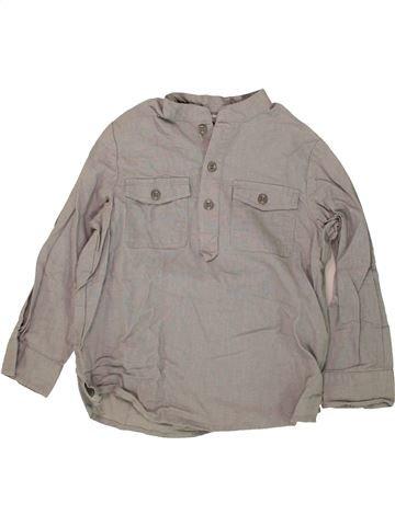 Chemise manches longues garçon VERTBAUDET gris 6 ans été #1497203_1