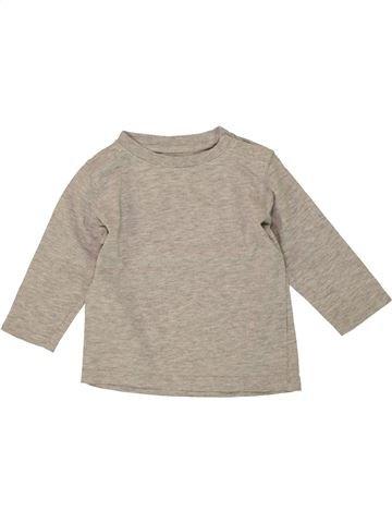 T-shirt manches longues garçon KIMBALOO beige 12 mois hiver #1497285_1