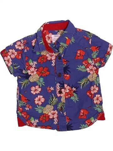 Chemise manches courtes garçon MAMAS & PAPAS violet 9 mois été #1497408_1