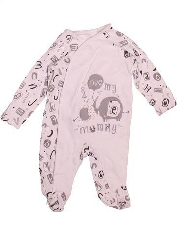 Pyjama 1 pièce garçon TU blanc 1 mois été #1497413_1