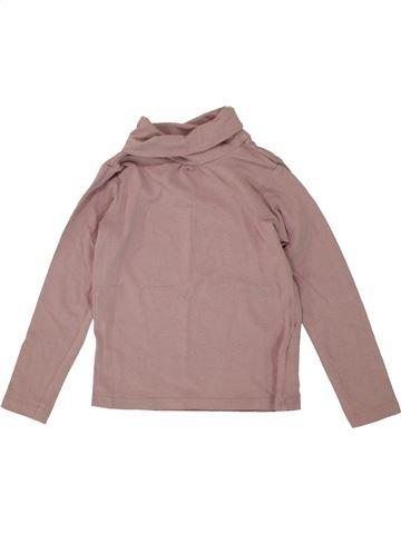Camiseta de cuello alto niña VERTBAUDET rosa 4 años invierno #1497414_1