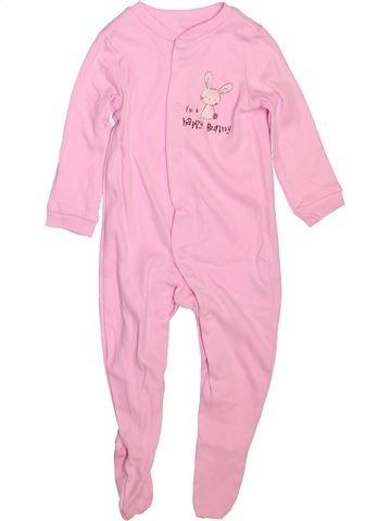 Pyjama 1 pièce fille F&F rose 6 mois été #1497461_1