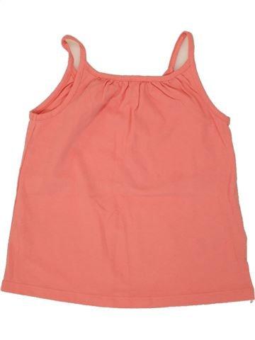 T-shirt sans manches fille VERTBAUDET orange 4 ans été #1497481_1