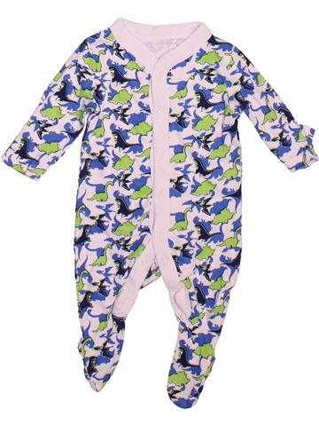 Pyjama 1 pièce garçon LILY & DAN blanc 1 mois été #1497483_1