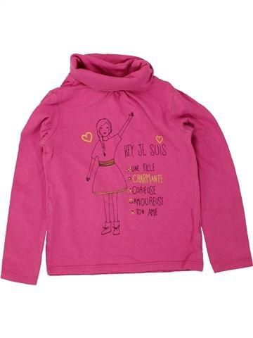 T-shirt col roulé fille VERTBAUDET rose 4 ans hiver #1497502_1