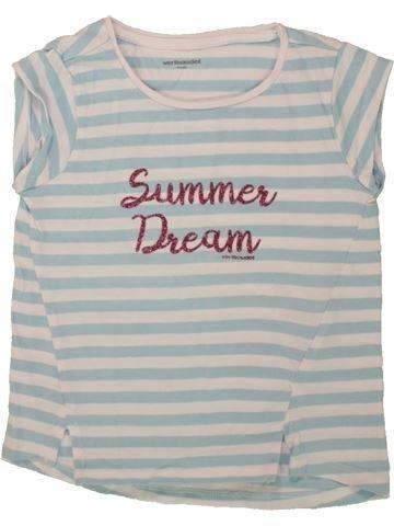 Camiseta de manga corta niña VERTBAUDET gris 4 años verano #1497510_1