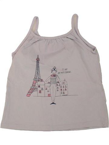 Camiseta sin mangas niña VERTBAUDET gris 4 años verano #1497511_1