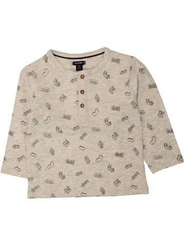 Camiseta de manga larga niño KIABI beige 12 meses invierno #1497559_1